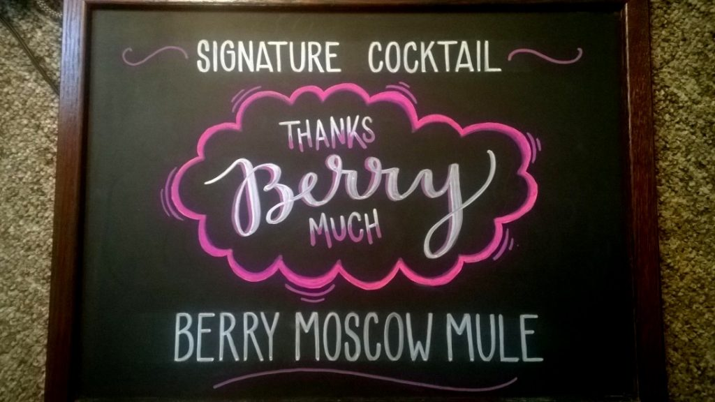 "Signature Cocktail: ""Thanks Berry Much."" Berry Moscow Mule."